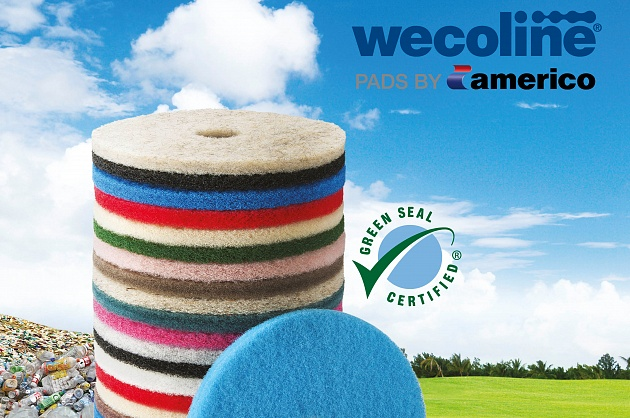Wecoline Full Cycle® pads by Americo nu ook gecertificeerd door Green Seal™